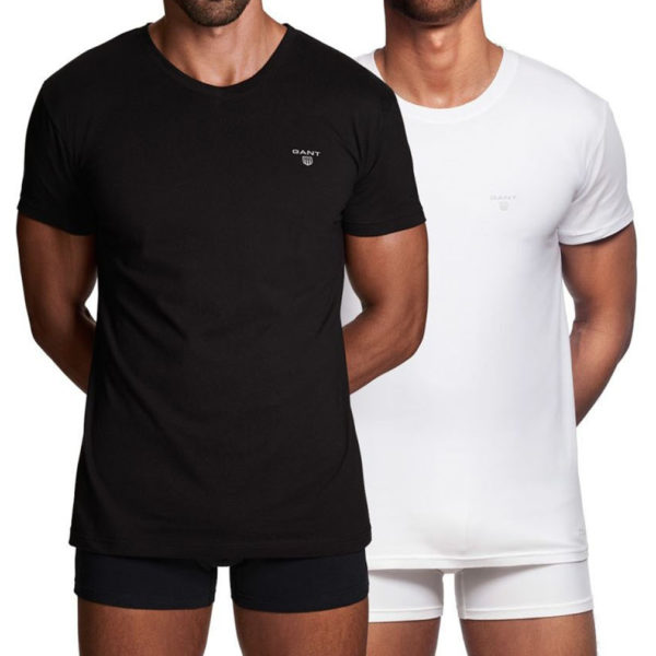 double pack white and black t shirt