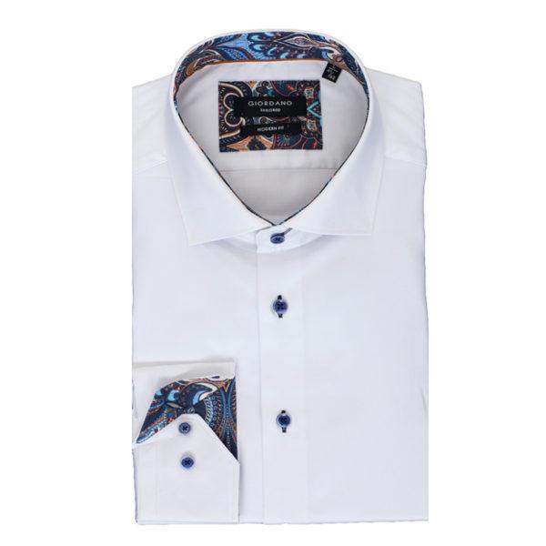 giordano shirt white