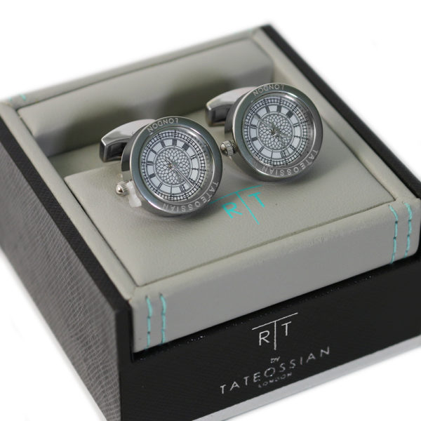 Functional Clock cufflinks in case
