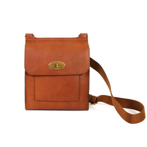 Grain Veg Tanned medium tan Mulberry postman bag