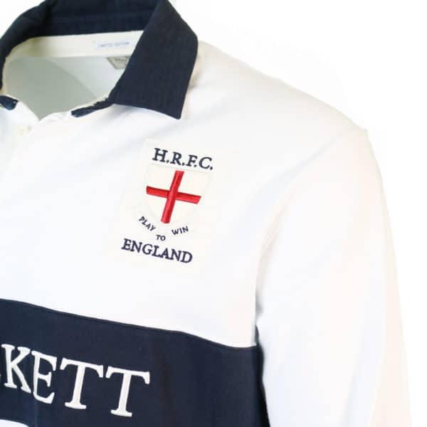 Hackett England Rugby Shirt detail