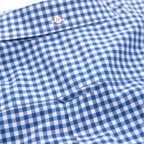 THE BROADCLOTH GINGHAM REG BD college blue2