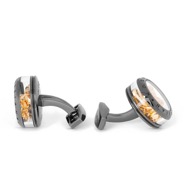 gold leaf cufflinks taetossian3