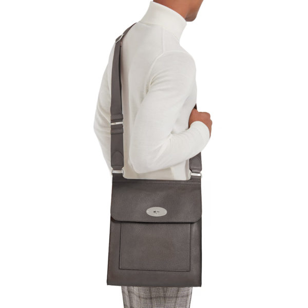 mulberry messenger bag large grey2