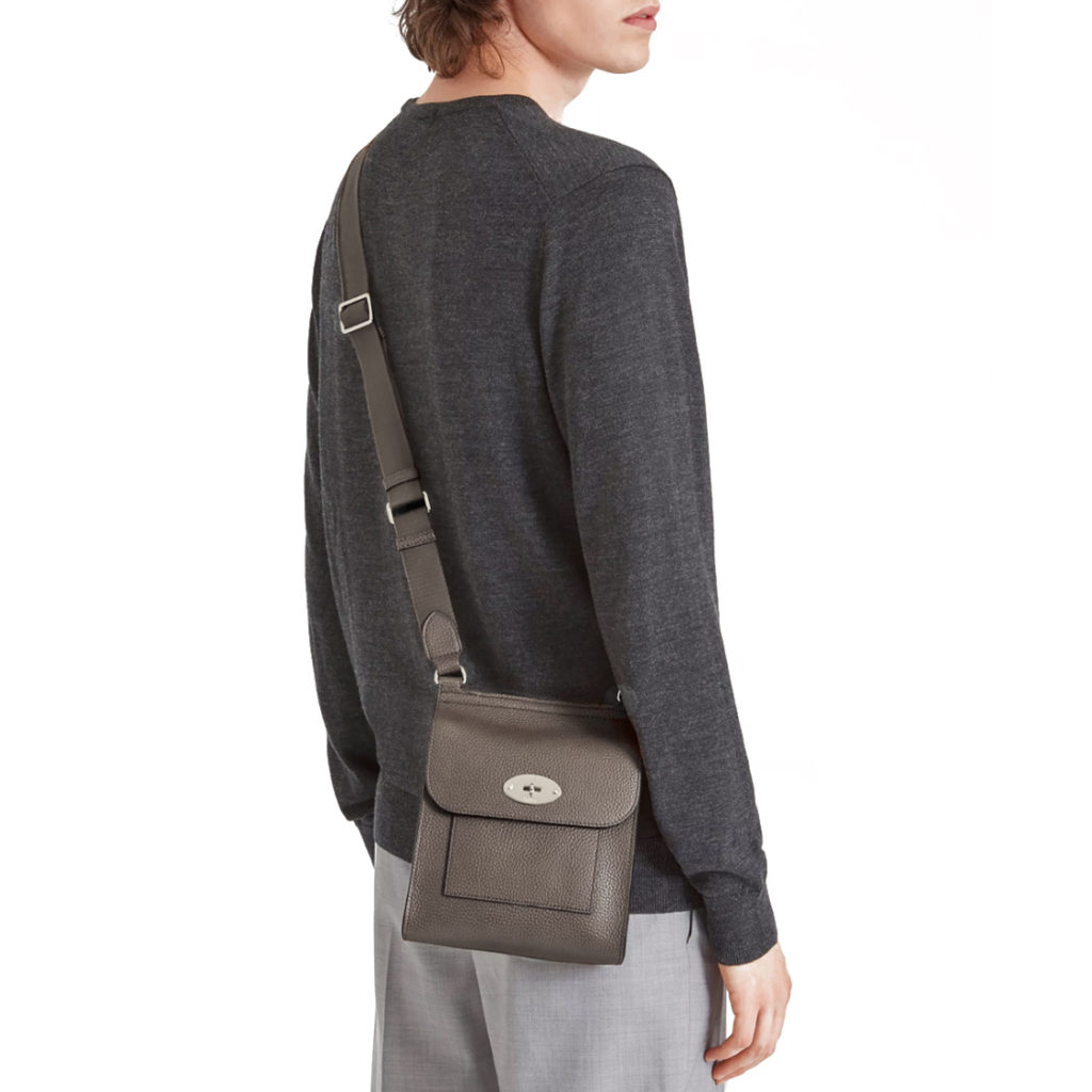 mulberry messenger bag small Antony1 earth grey