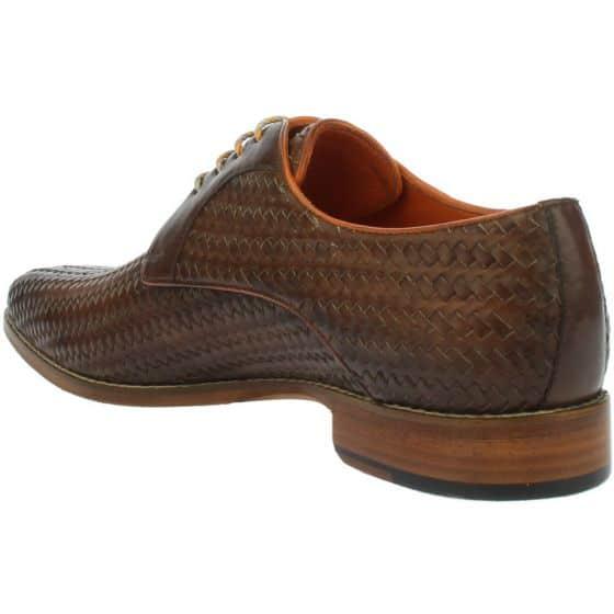 Braided leather shoe back side