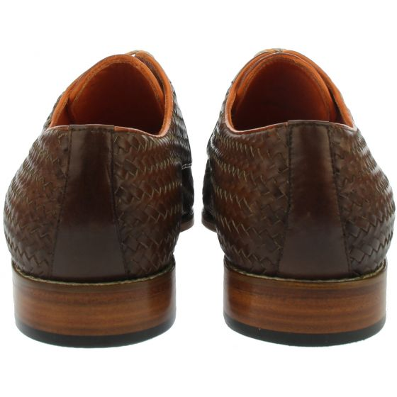 Braided leather shoe back