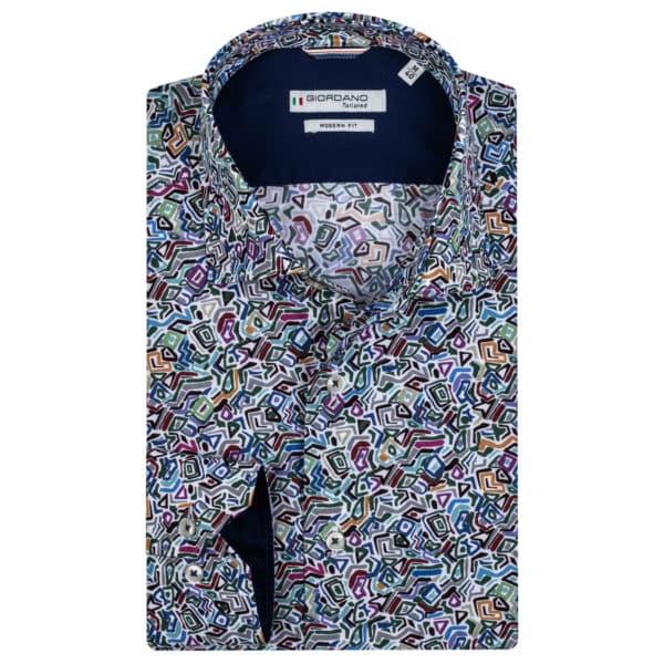 Giordano shirt Maggiore LS Cutaway multi