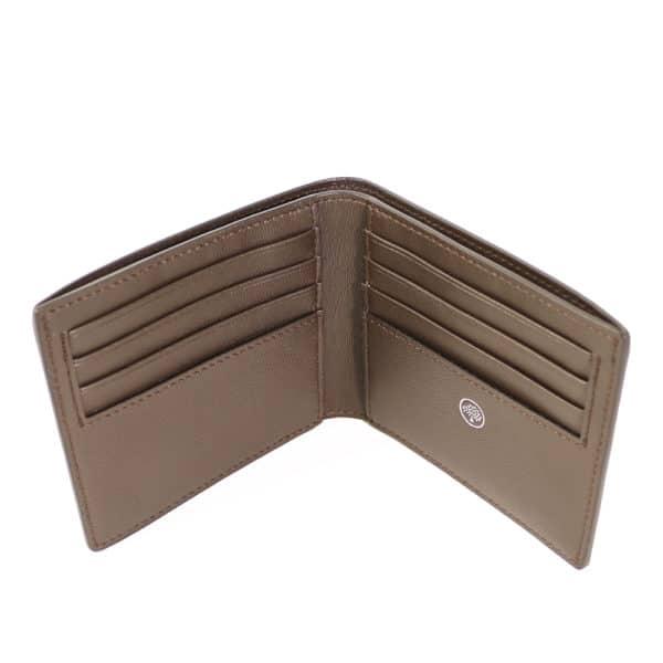 Grain Veg Tanned 8 Card Wallet open