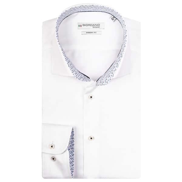 LS Seaton cutaway modern fit shirt white
