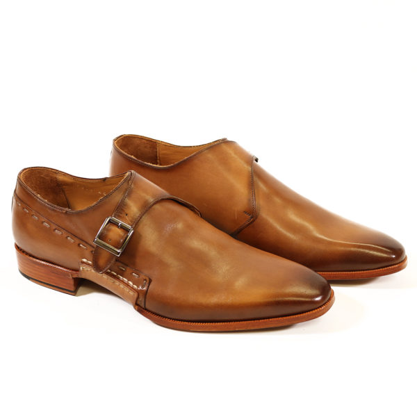 MELIK TAN LEATHER BUCKLE SHOE