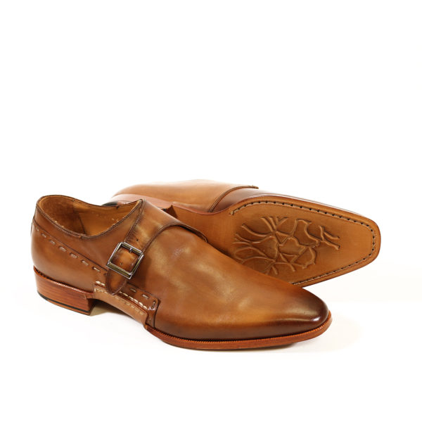 MELIK TAN LEATHER BUCKLE SHOE2