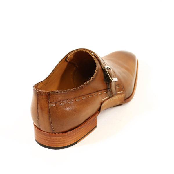 MELIK TAN LEATHER BUCKLE SHOE3