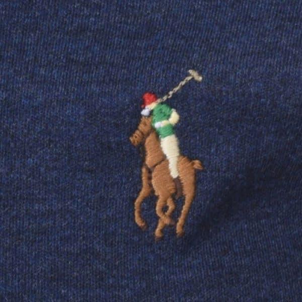 Navy Ralph Lauren Polo shirt detail