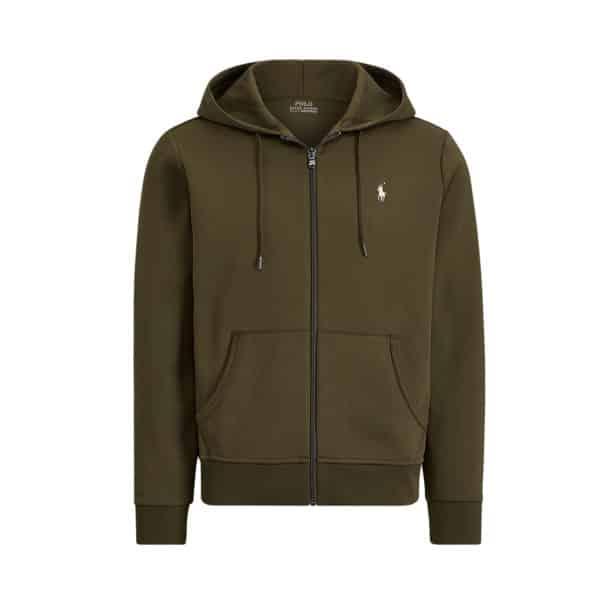 Ralph Lauren zip up green hoodie