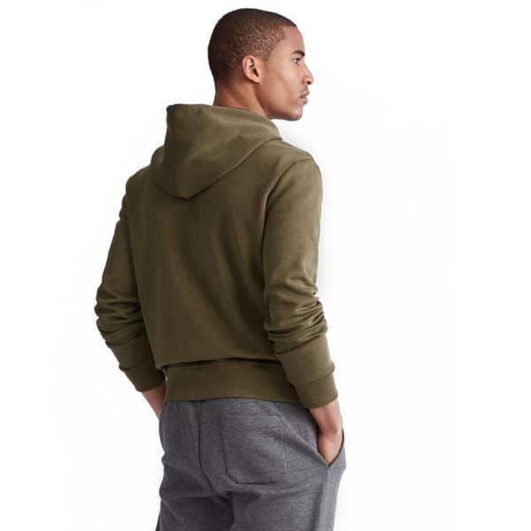 Ralph Lauren zip up green hoodie back