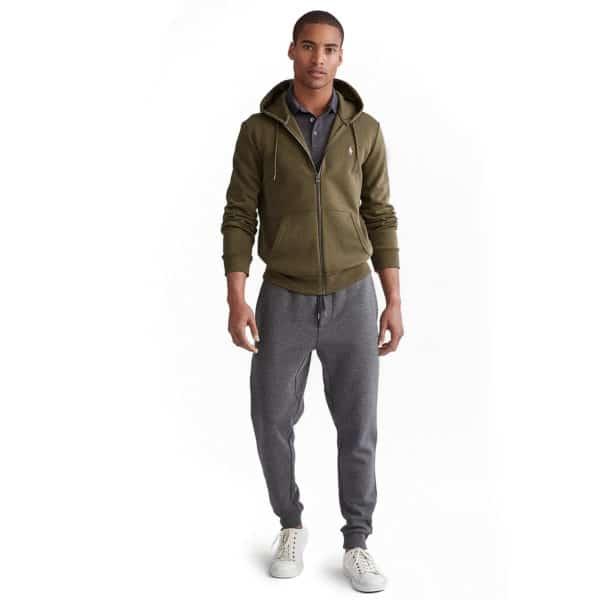 Ralph Lauren zip up green hoodie full