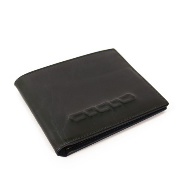 Stamped Navy Leather Wallet Paul Smith