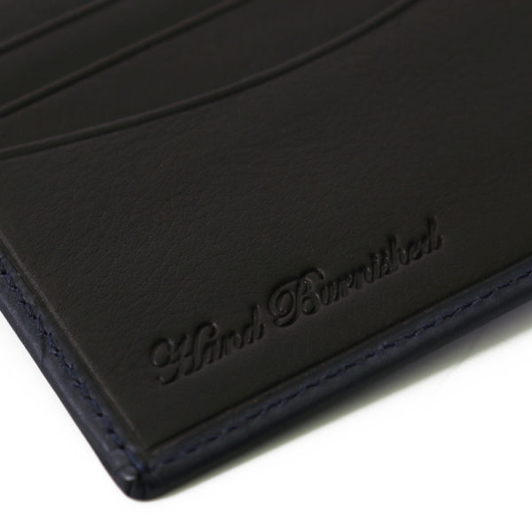 Stamped Navy Leather Wallet Paul Smith detail2