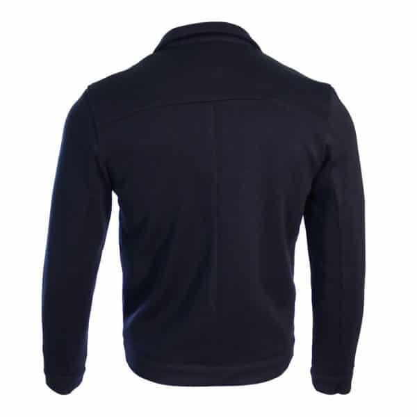 Zip Knit Jumper navy back