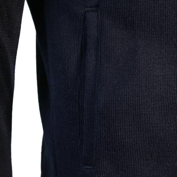 Zip Knit Jumper navy detail pocket
