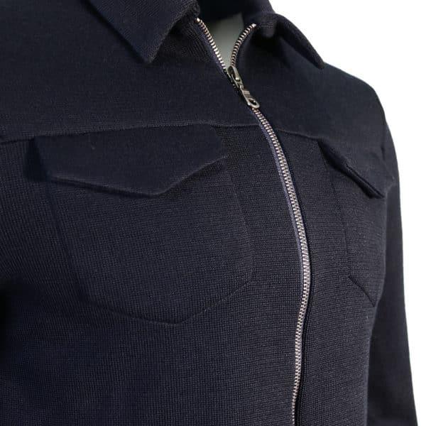 Zip Knit Jumper navy detal