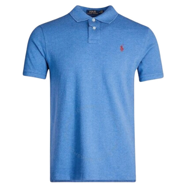 polo ralph lauren blue knit front red