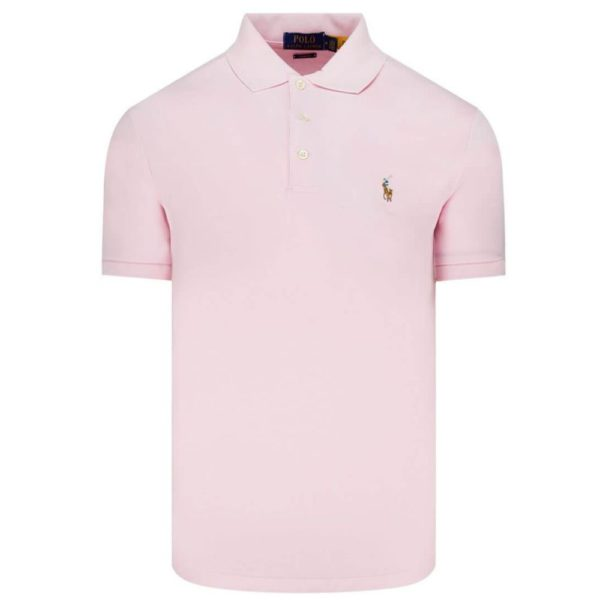 polo ralph lauren soft pink polo front