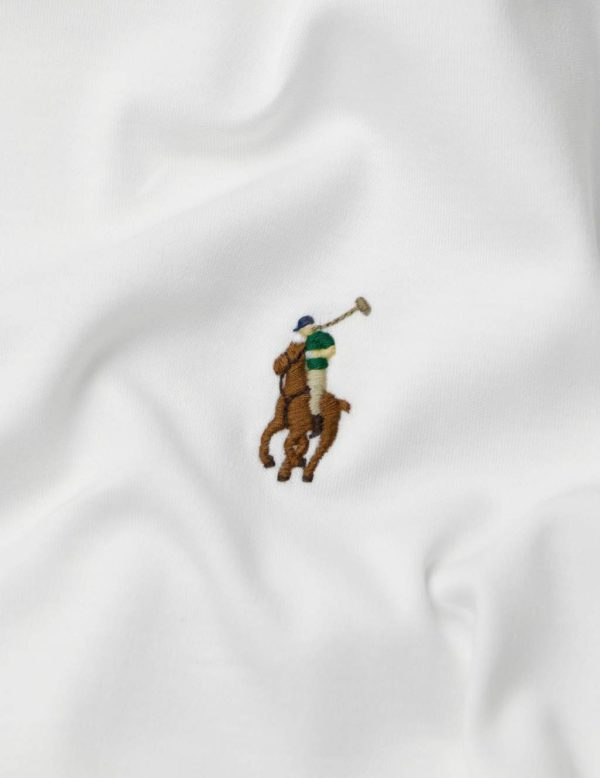 polo ralph lauren white multi coloured pony