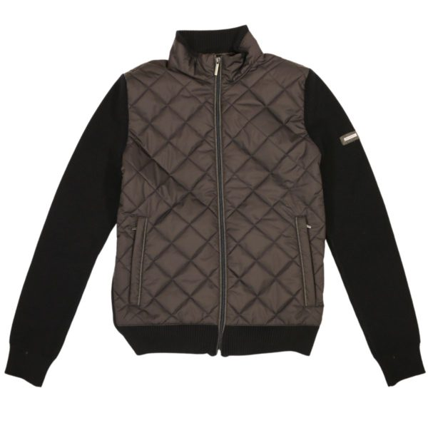 BUGATTI HYBRID SWEATER JACKET – BLACKNAVY