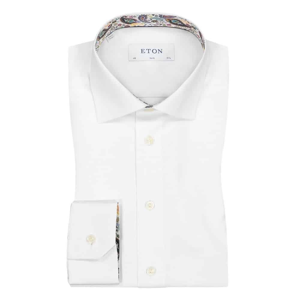 Eton white shirt paisley main