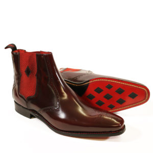 HUNGER BOWIE CHELSEA BOOT 2 burgundy polish