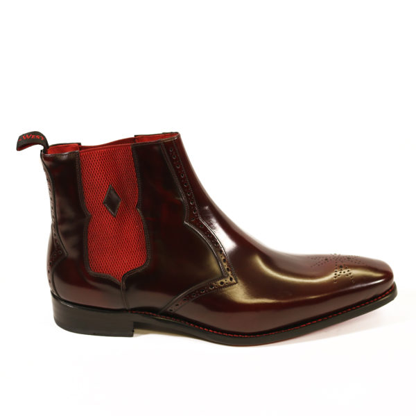 HUNGER BOWIE CHELSEA BOOT 3 burgundy polish