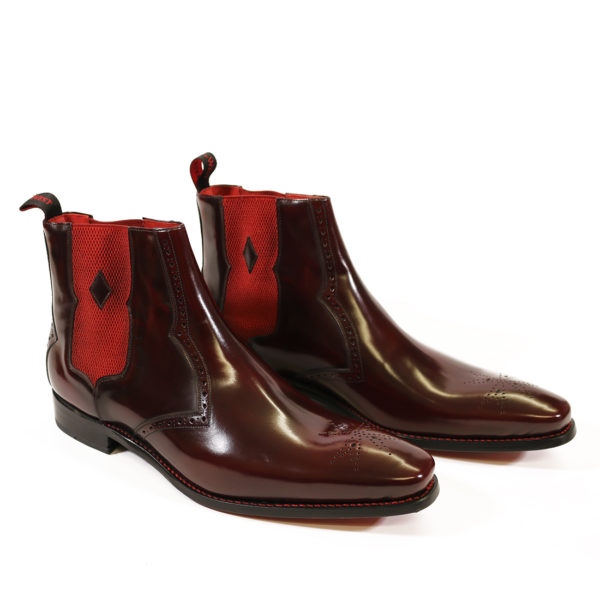 HUNGER BOWIE CHELSEA BOOT burgundy polish