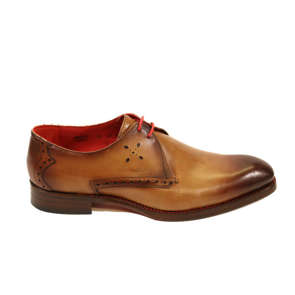 JEFFERY WEST FLOYD MANCHA Mahogany SHADOW DERBY SHOES side