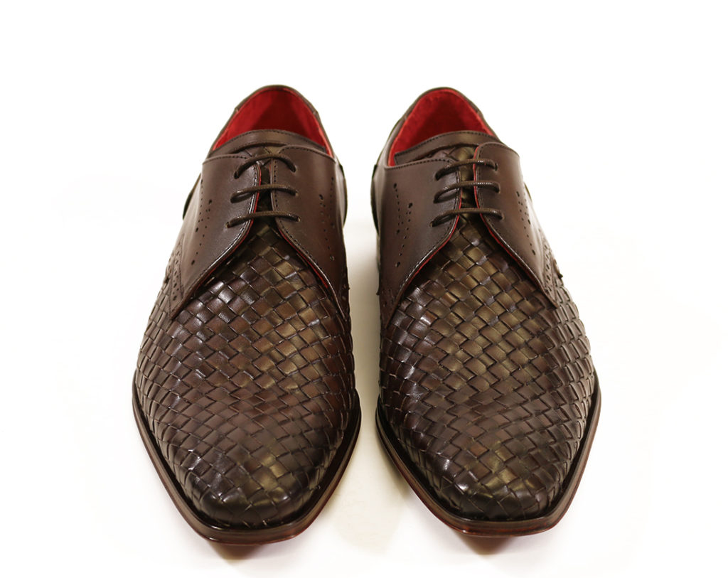 Jeffery West Mens Woven Leather Wing Tip Scarface Shoes Brown 1 e1607633589882
