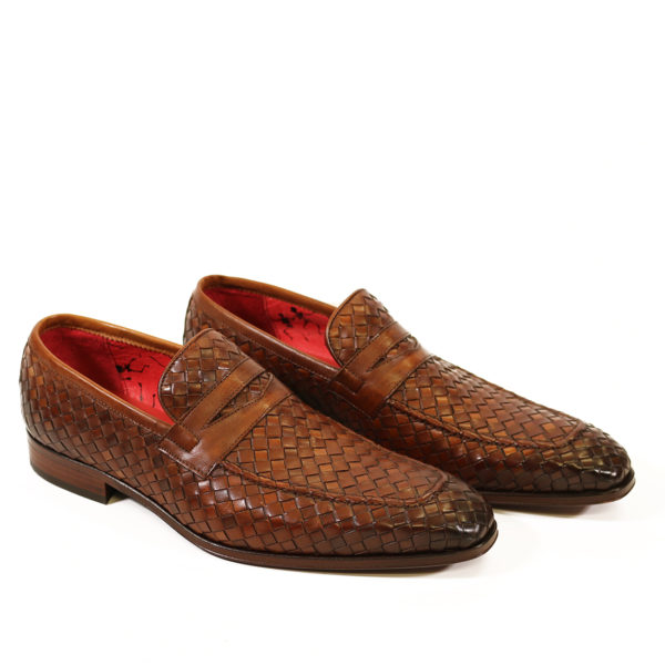 Jeffery West Soprano Leather Loafers castano 1