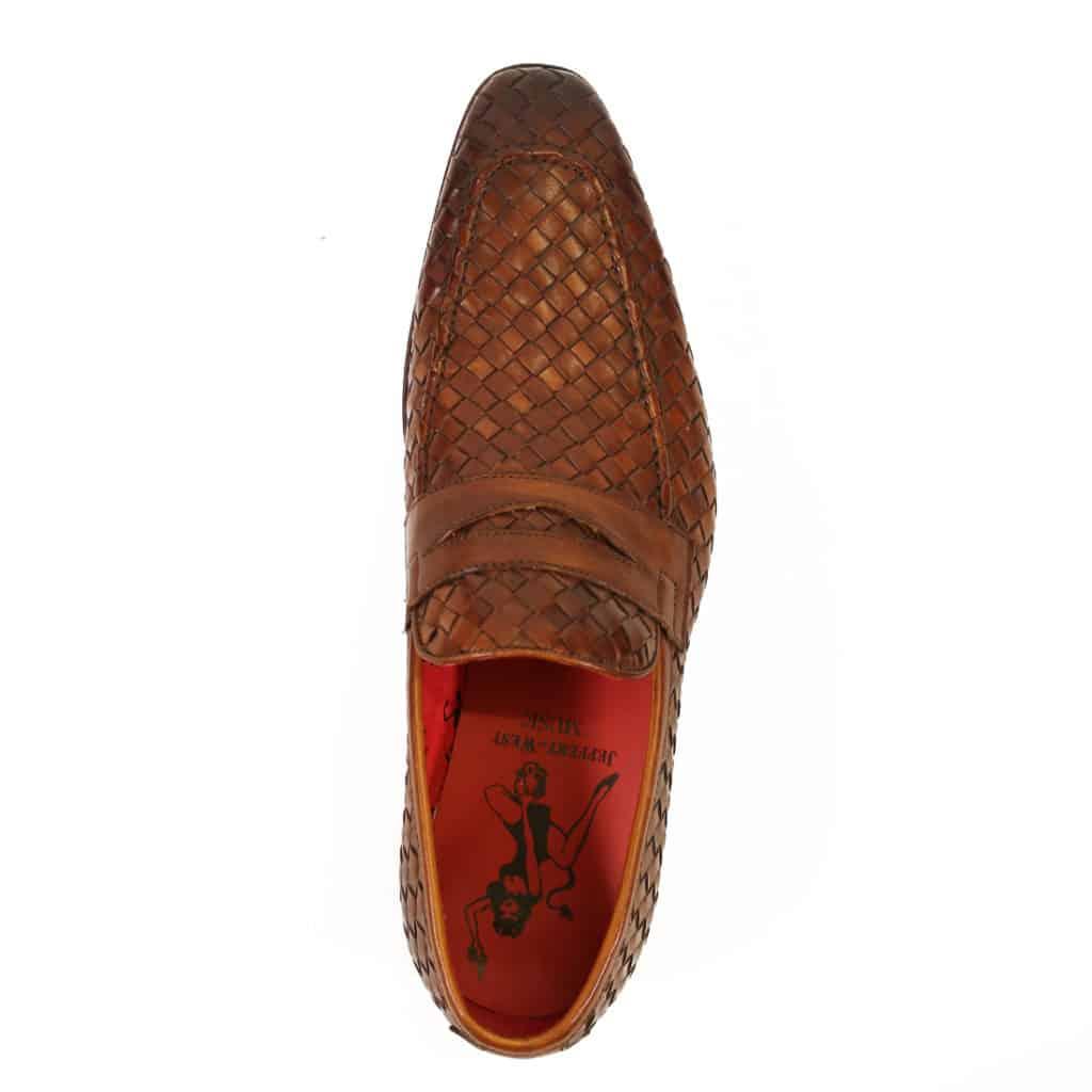 Jeffery West Soprano Leather Loafers castano