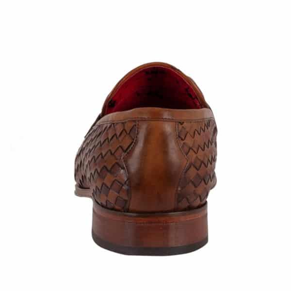 Jeffery West Soprano Leather Loafers castano back