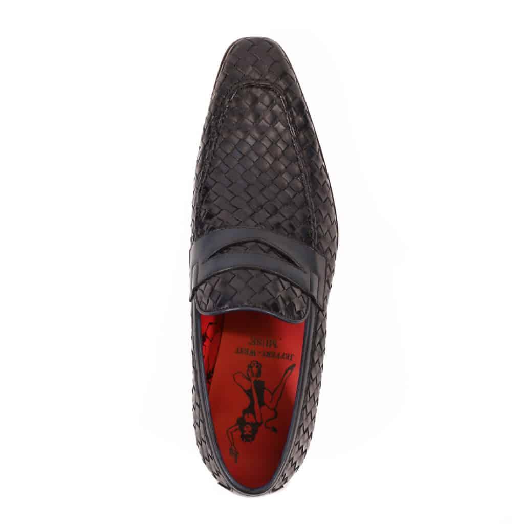 Jeffery West Soprano Leather Loafers dark blue vowen
