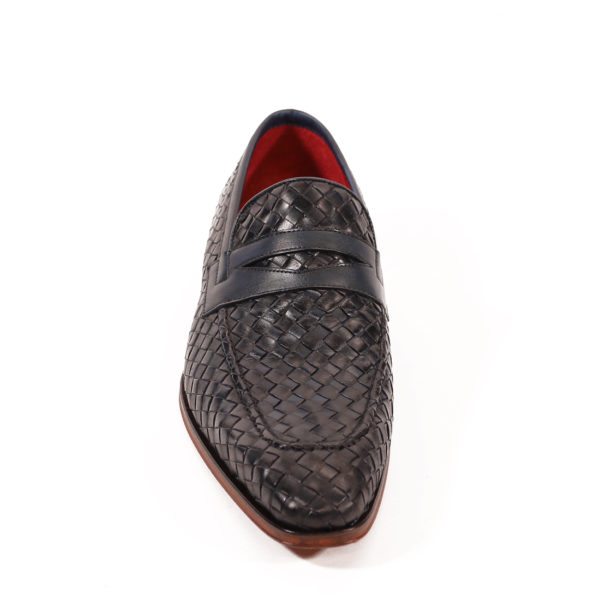 Jeffery West Soprano Leather Loafers dark blue vowen3