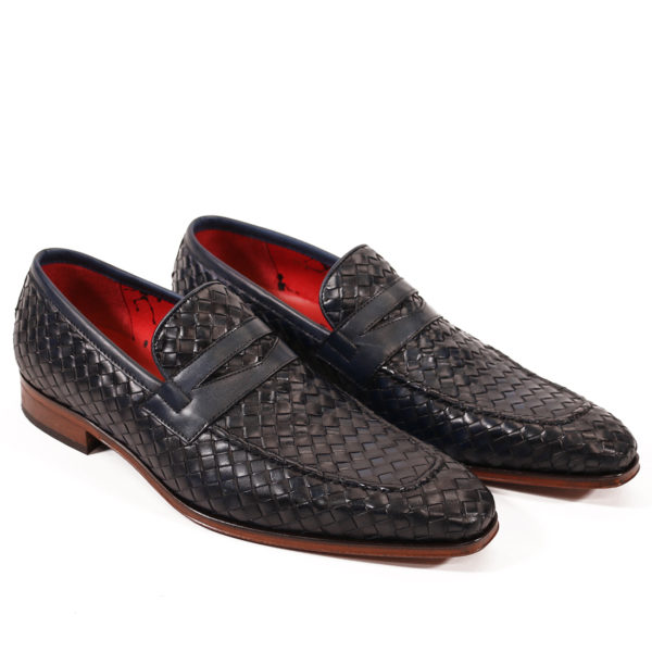Jeffery West Soprano Leather Loafers dark blue vowen4