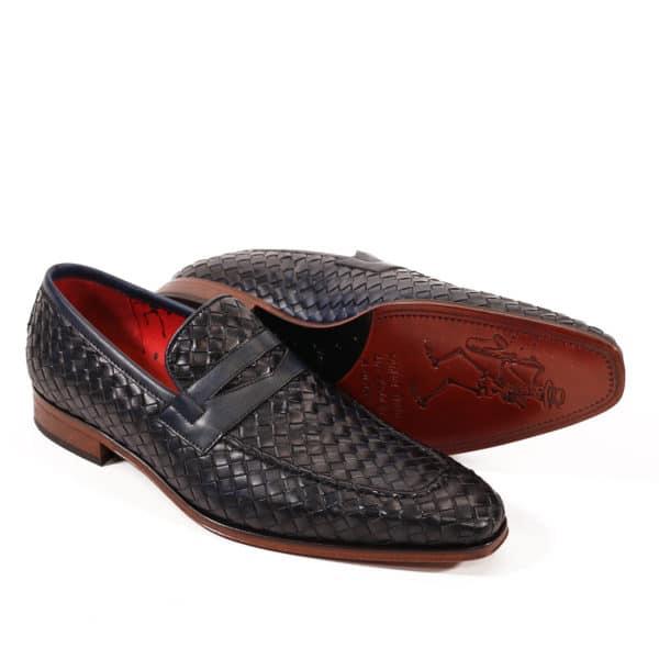 Jeffery West Soprano Leather Loafers dark blue vowen5