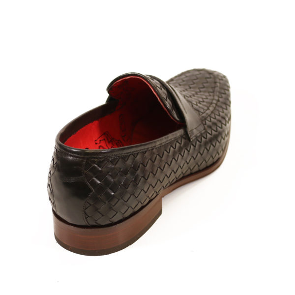 Jeffery West Soprano Leather Loafers dark brown back 2