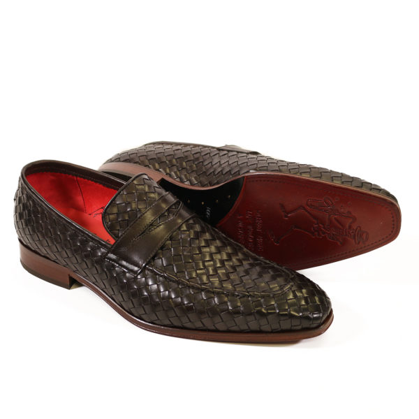 Jeffery West Soprano Leather Loafers dark brown main