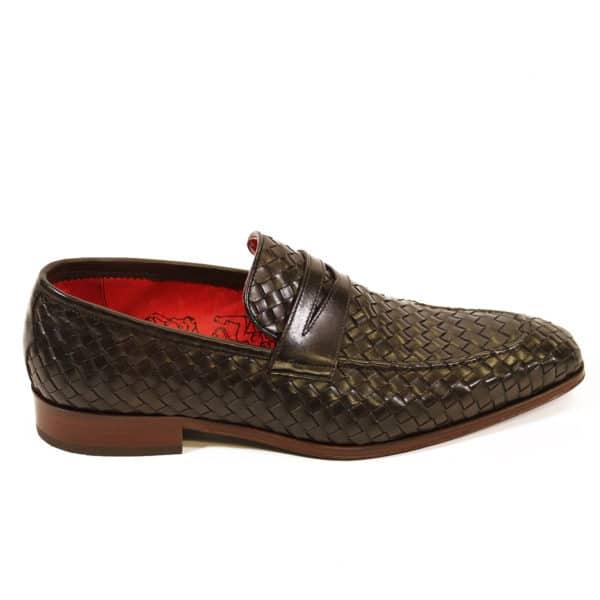 Jeffery West Soprano Leather Loafers dark brown side