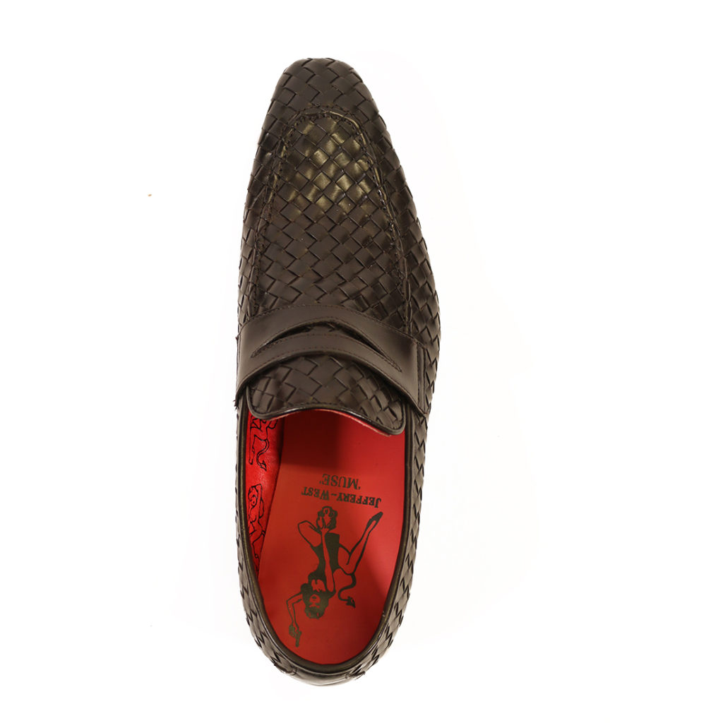 Jeffery West Soprano Leather Loafers dark brown top
