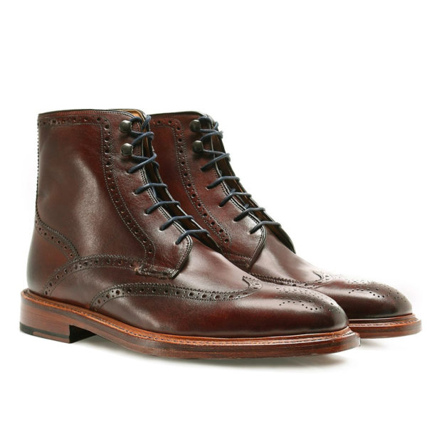 OLIVER SWEENEY Leather Carnforth Brogue Boots