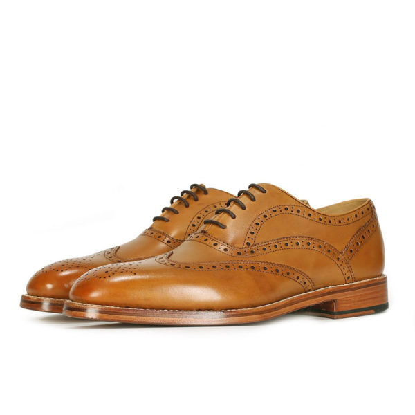 Oliver Sweeney ALDEBURGH TAN CALF LEATHER OXFORD BROGUE2