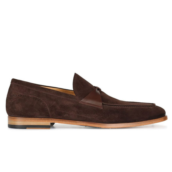 Oliver Sweeney TORBOLE BROWN SUEDE BUTTERFLY STRAP LOAFER